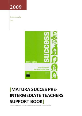 Success book upper intermediate matura new teachers