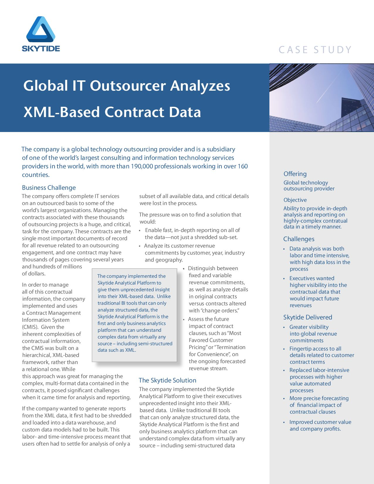 """outsourcing case study ibm Case studies print this page certegy's cancellation of eds contract and hiring of ibm outsourcing as a tool in exiting a case study in """"on demand."""
