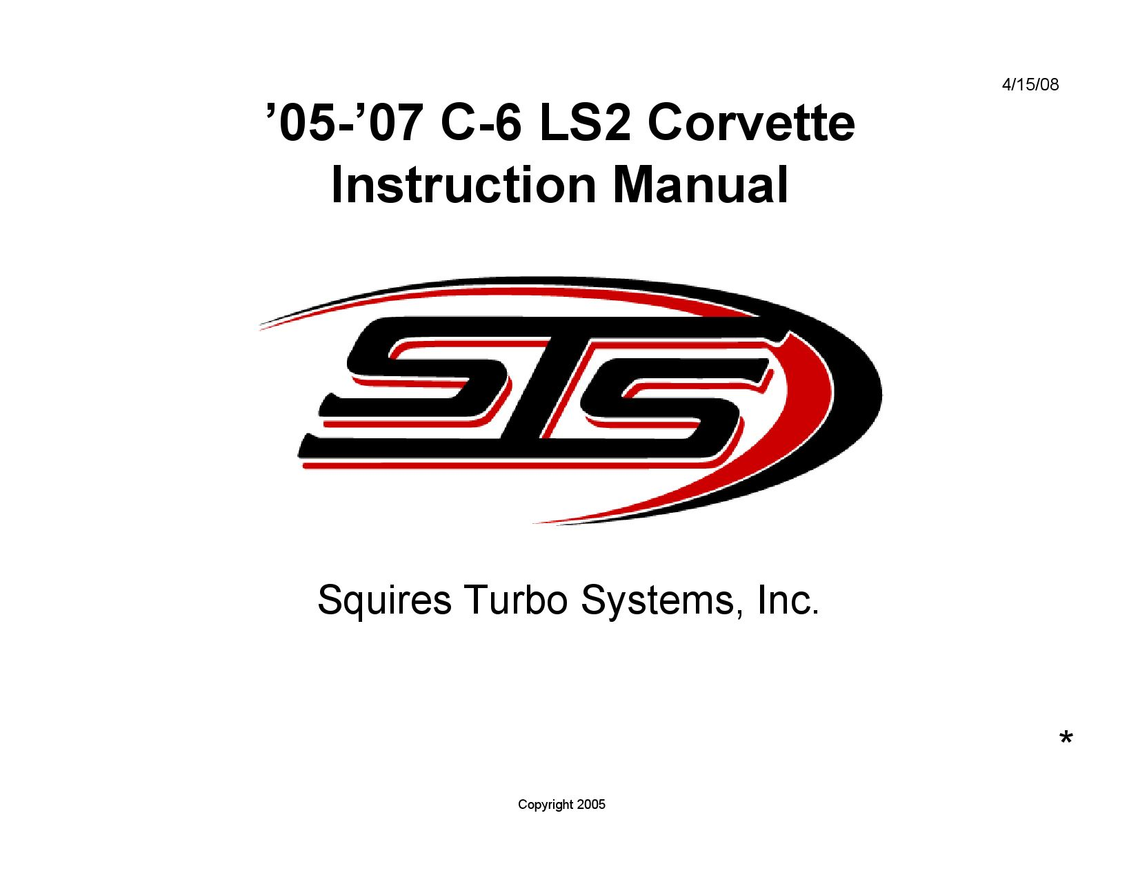 Sts Turbo 05 07 C6 Ls2 Dp Manual By Scott Golembiewski Issuu 2007 Corvette Wiring Diagrams