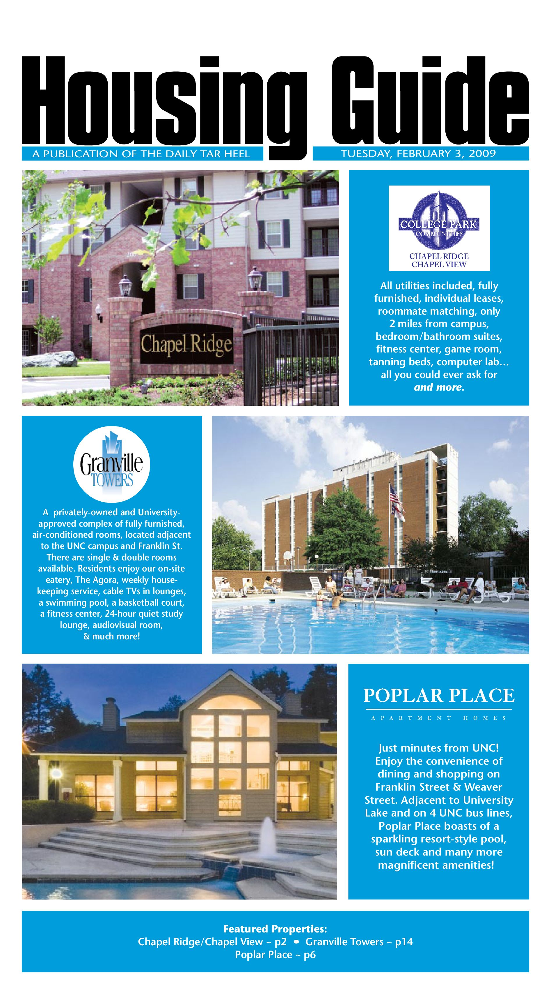 the daily tar heel housing guide, 2009 by the daily tar heel - issuu