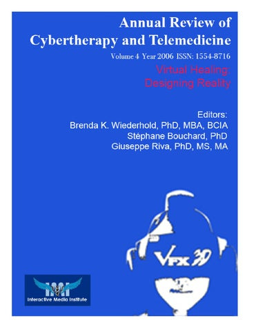 Annual Review Of Cybertherapy And Telemedicine Volume 4 Issue 2006