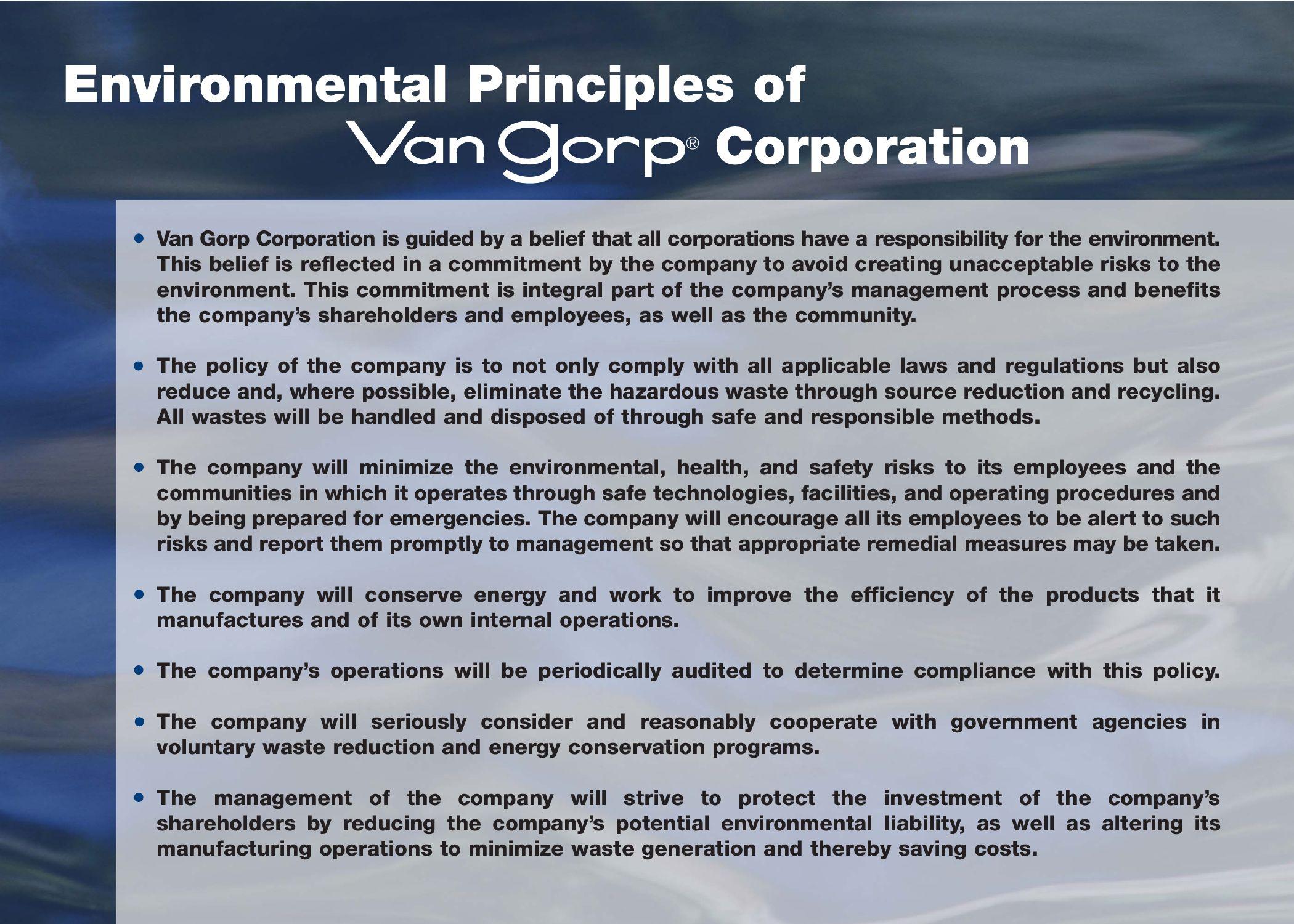 Van Gorp Environmental Principles by joe canfield - issuu