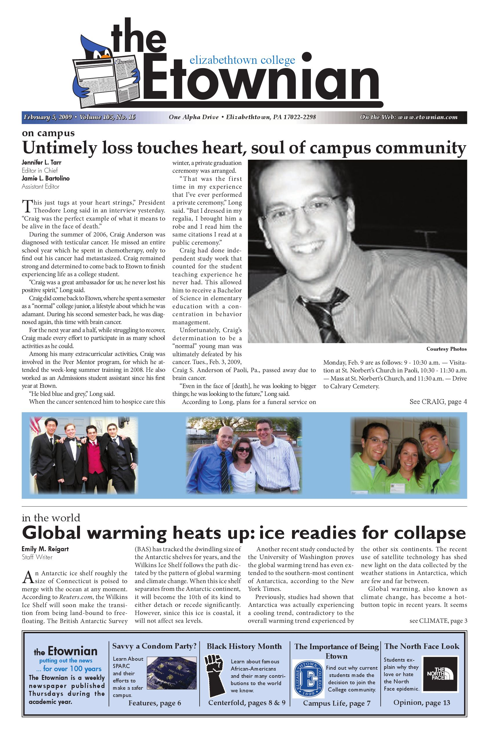 Etownian Issue 16 February 5 2009 by The Etownian issuu