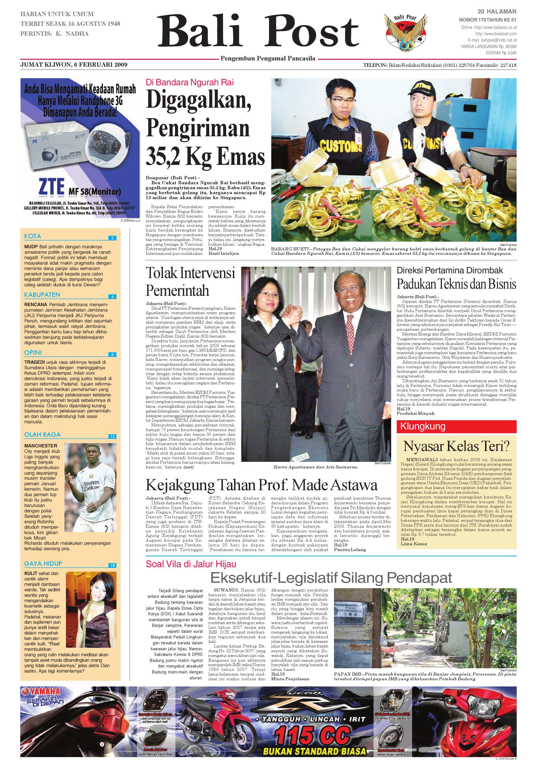 Bali Post Jumat 6 Februari 2009 By E Paper Kmb Issuu Produk Ukm Bumn Philips Essential 18w