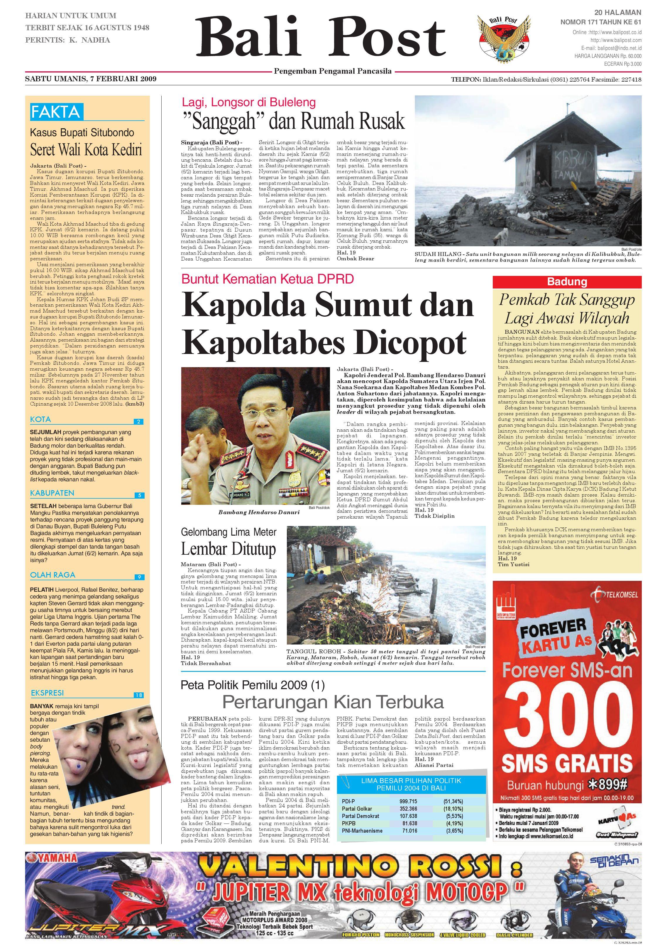 Bali Post Sabtu 7 Februari 2009 By E Paper Kmb Issuu Baju Koko Bermotif Gaul Ka0037