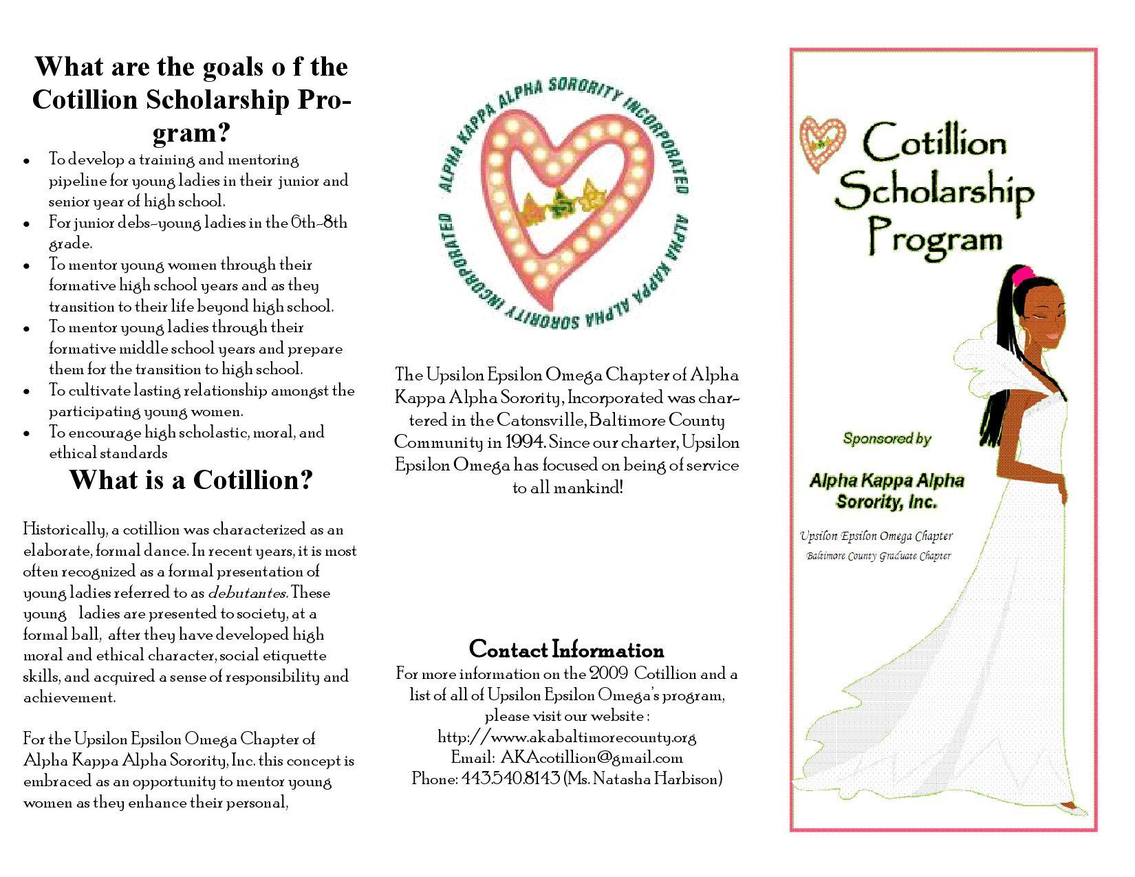 AKA Cotillion Brochure by Lillie Lewis - issuu