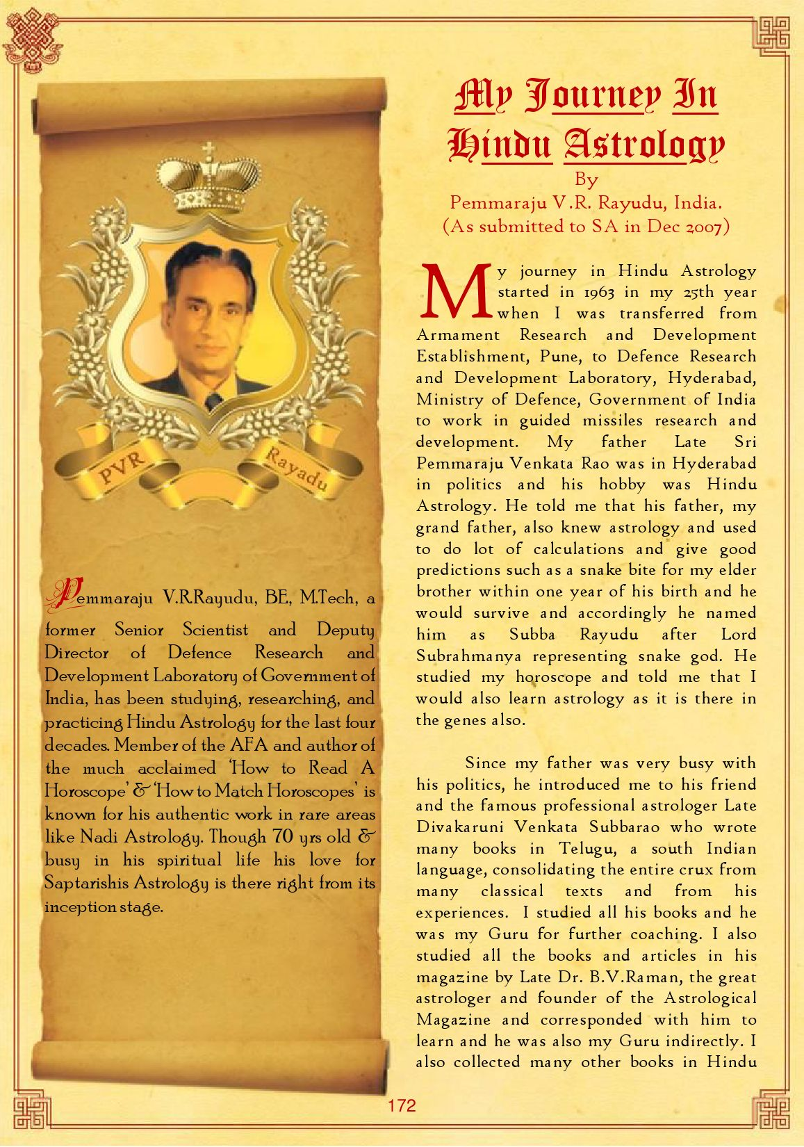 My Journey In Hindu Astrology by Saptarishis Astrology - issuu