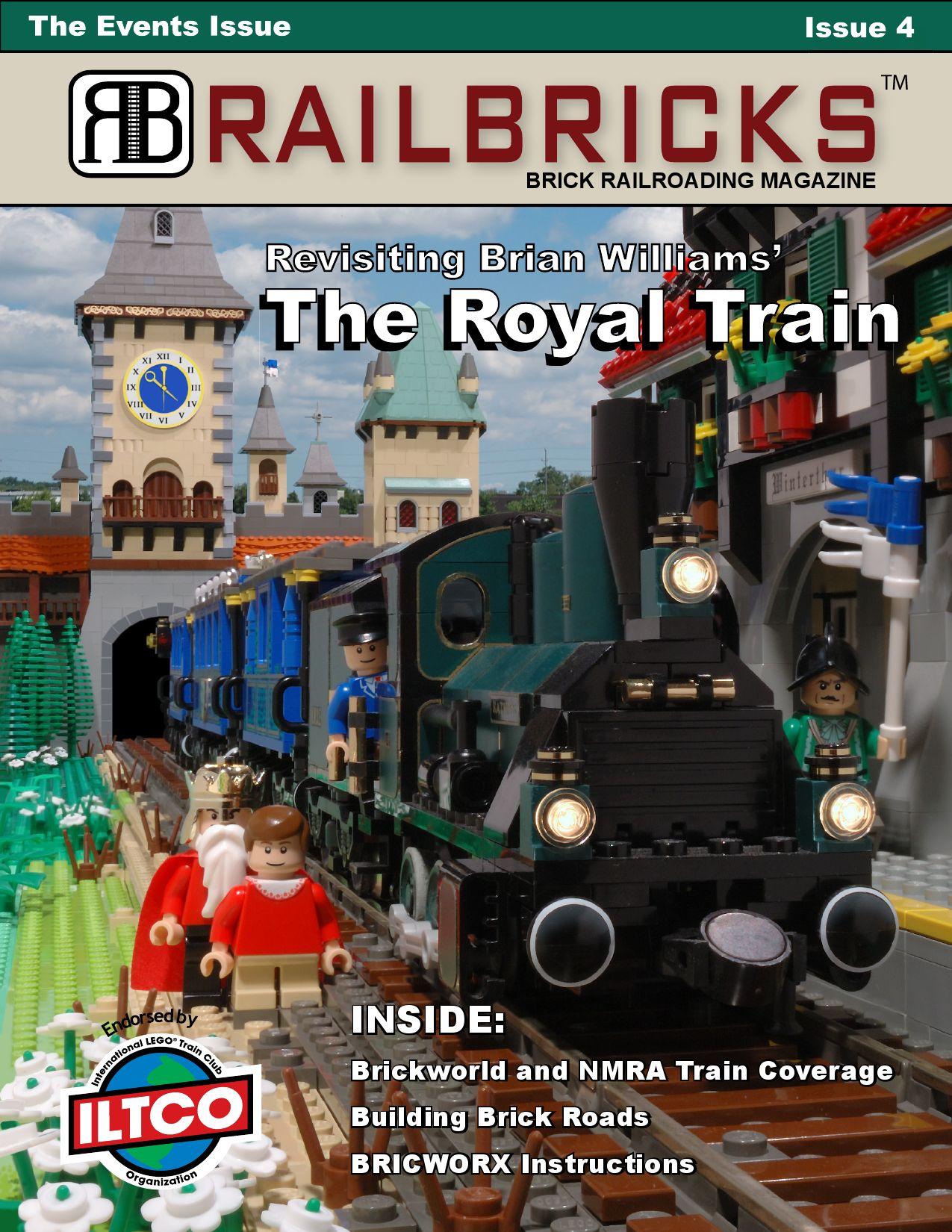 8 Printed LEGO Tiles Custom LEGO Train Station Designed by Brick Builders Pro