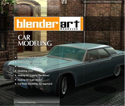 Blenderart magazine issue 8 car modeling by blenderart magazine issuu page 1 malvernweather Gallery
