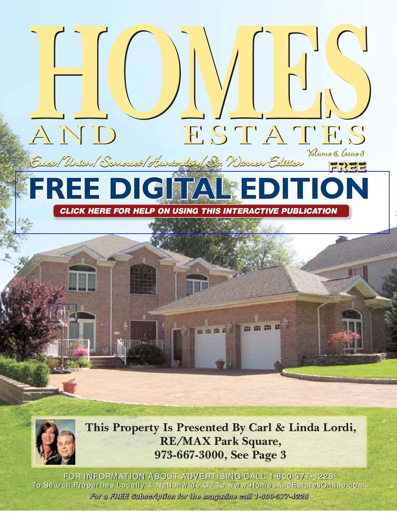 Homes and Estates Magazine Essex, Union, Hud, Somer, Hunter
