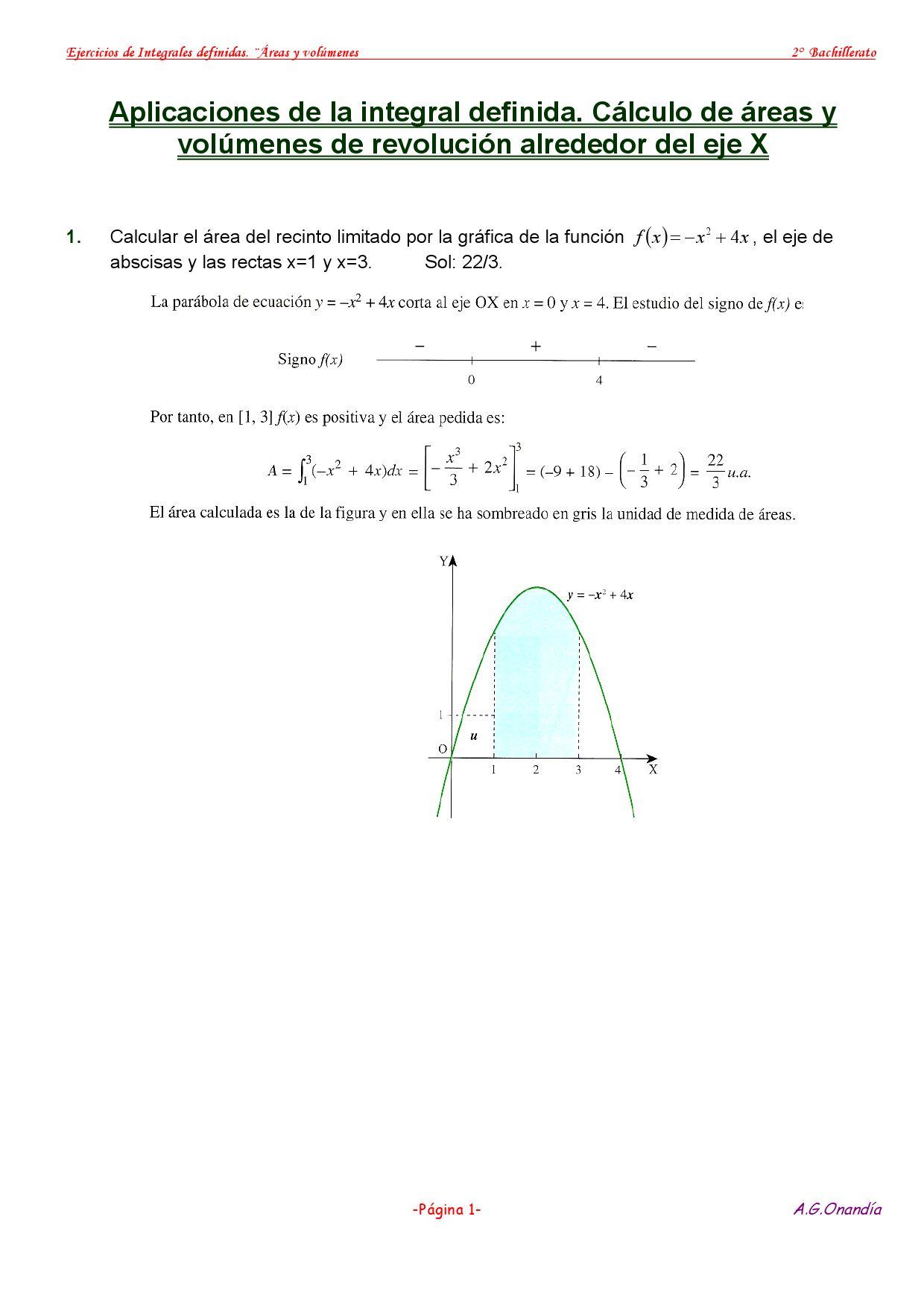 Áreas y volúmenes con integrales definidas by Alberto García - issuu