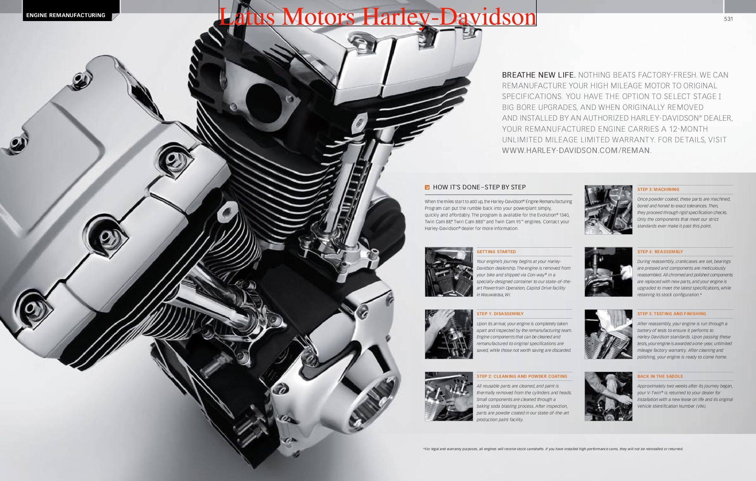 Harley davidson engine and transmission catalog by harley for Factory motor parts portland