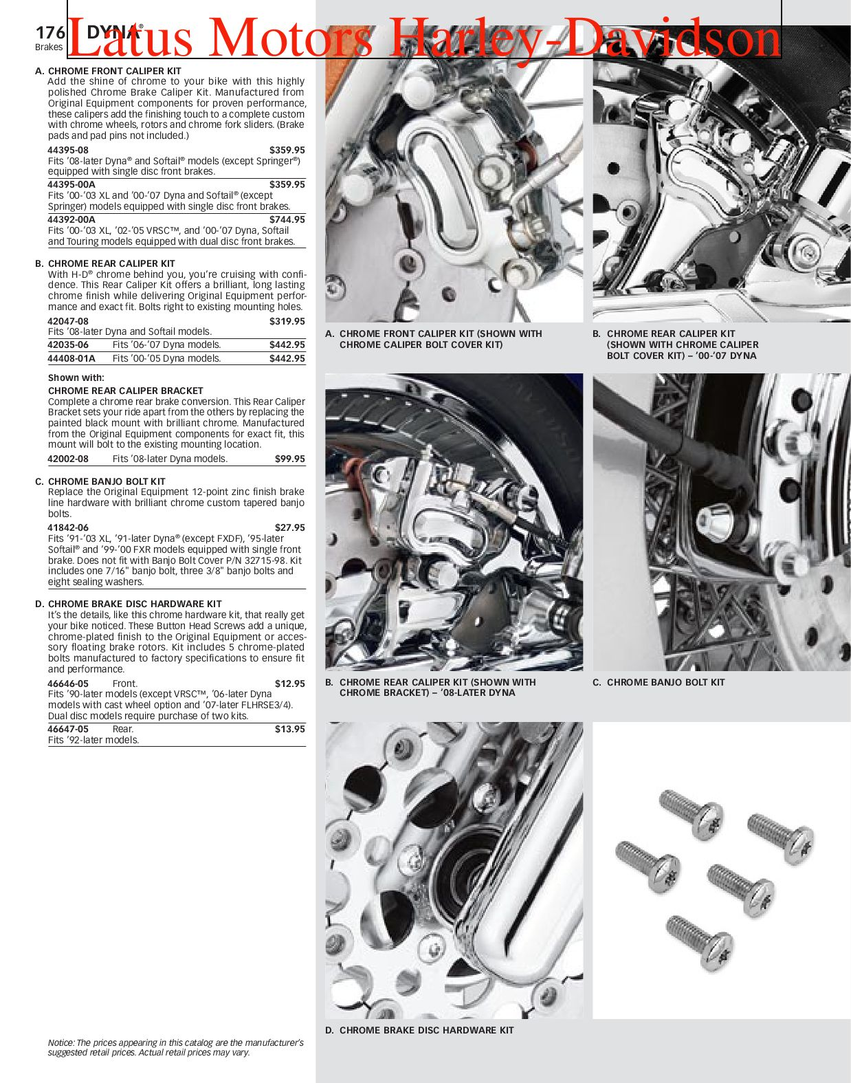 Harley-Davidson Dyna® Parts and Accessories Catalog
