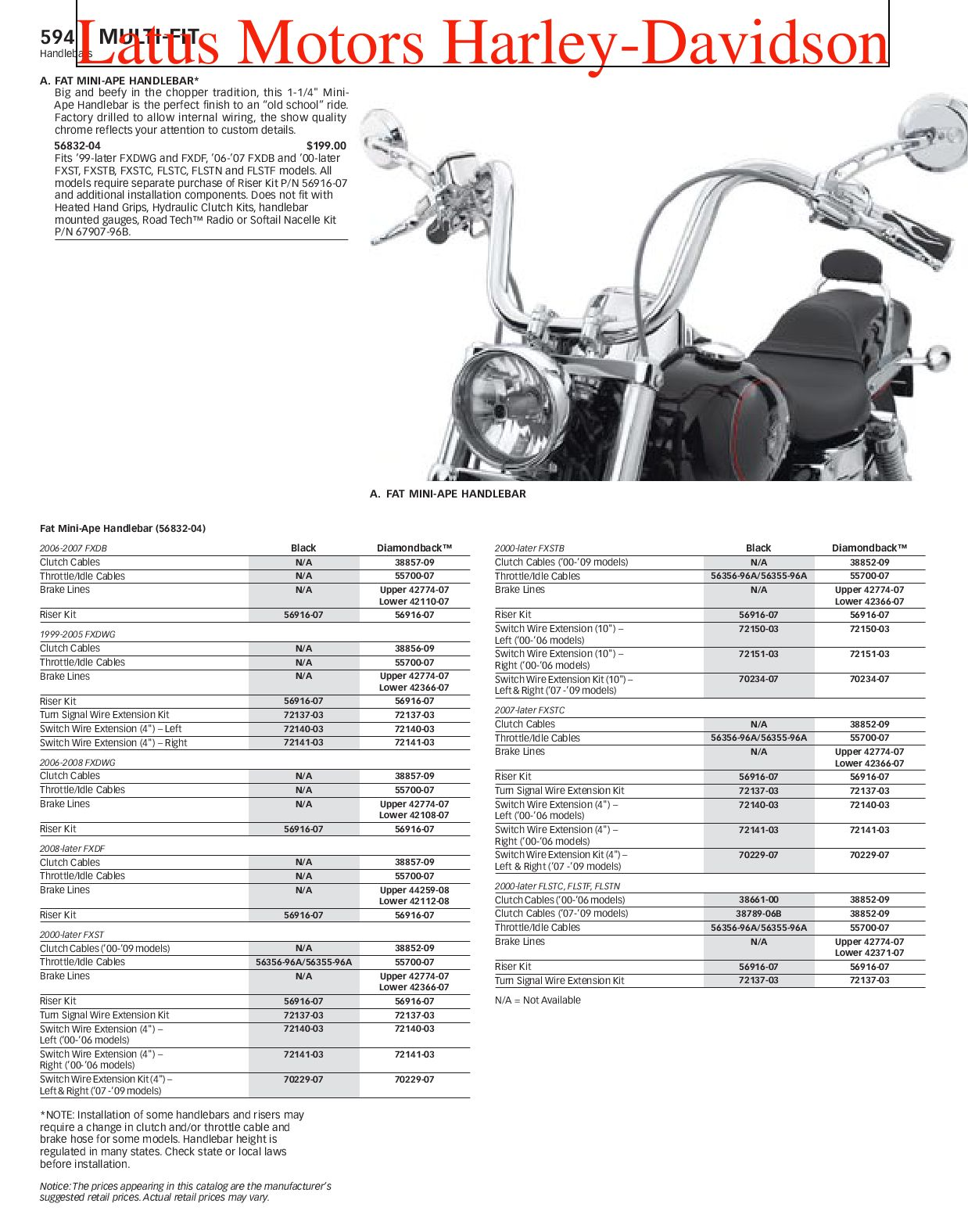 Harley-Davidson Multi Fit Parts and Accessories Catalog by Harley