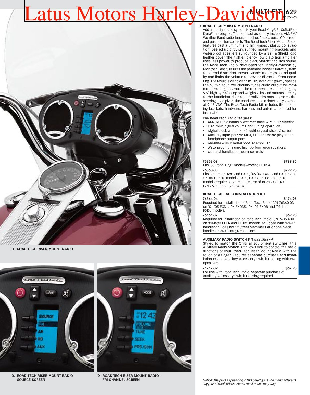 Harley Davidson Multi Fit Parts And Accessories Catalog By