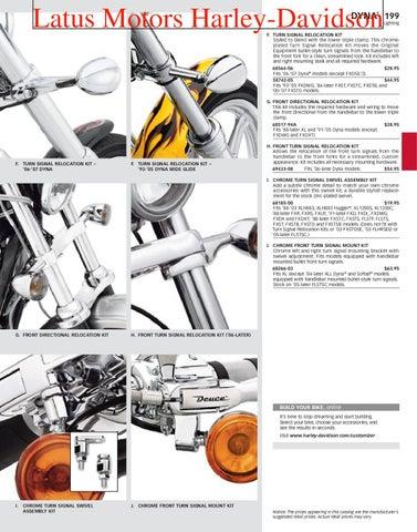 Chrome Turn Signal Swivel for Harley Davidson Sportster XL Softail Dyna FXD