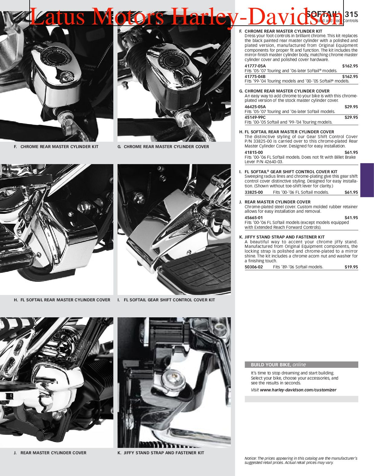 Part 1 Harley-Davidson Parts and Accessories Catalog by