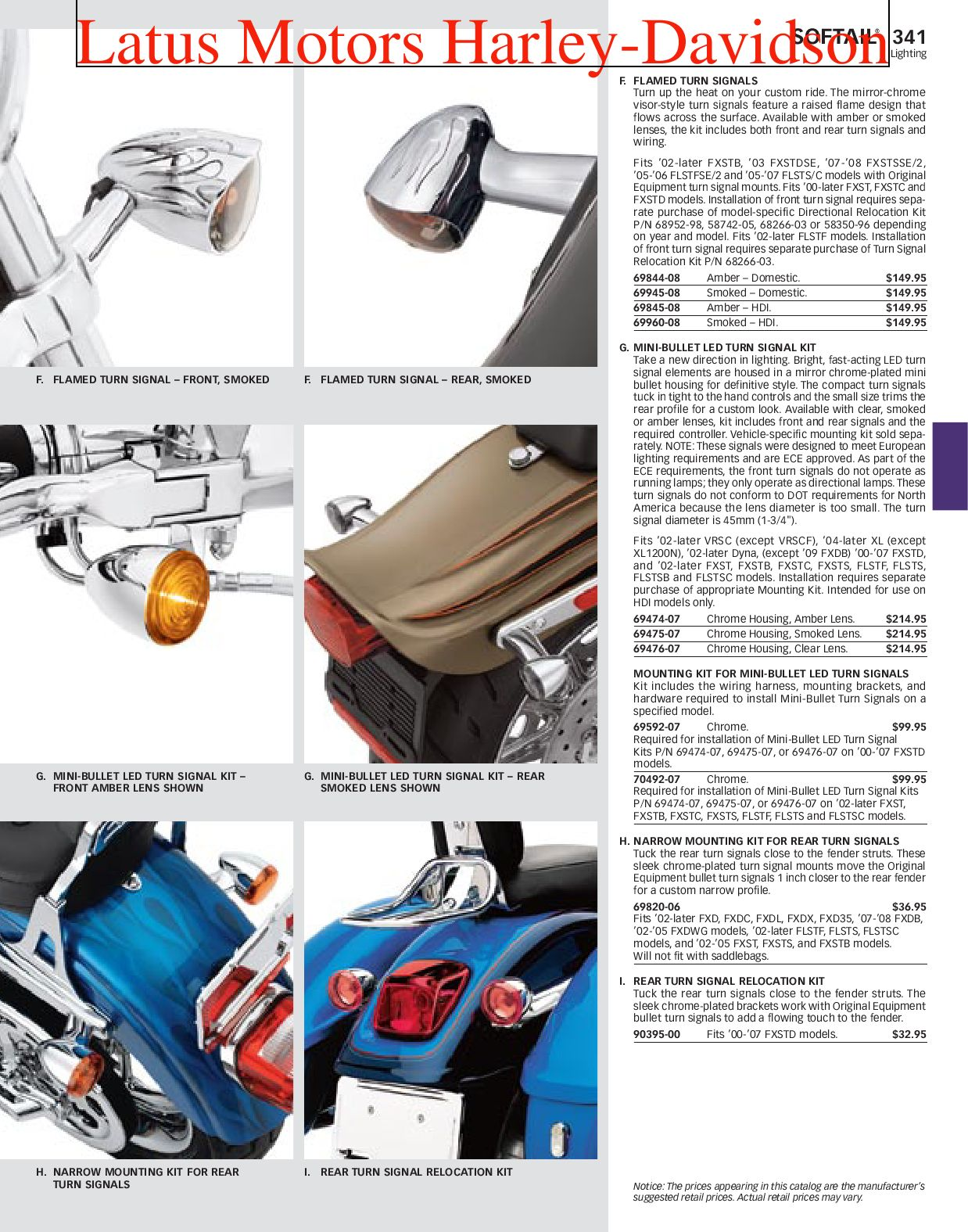 Part 1 Harley-Davidson Parts and Accessories Catalog by Harley
