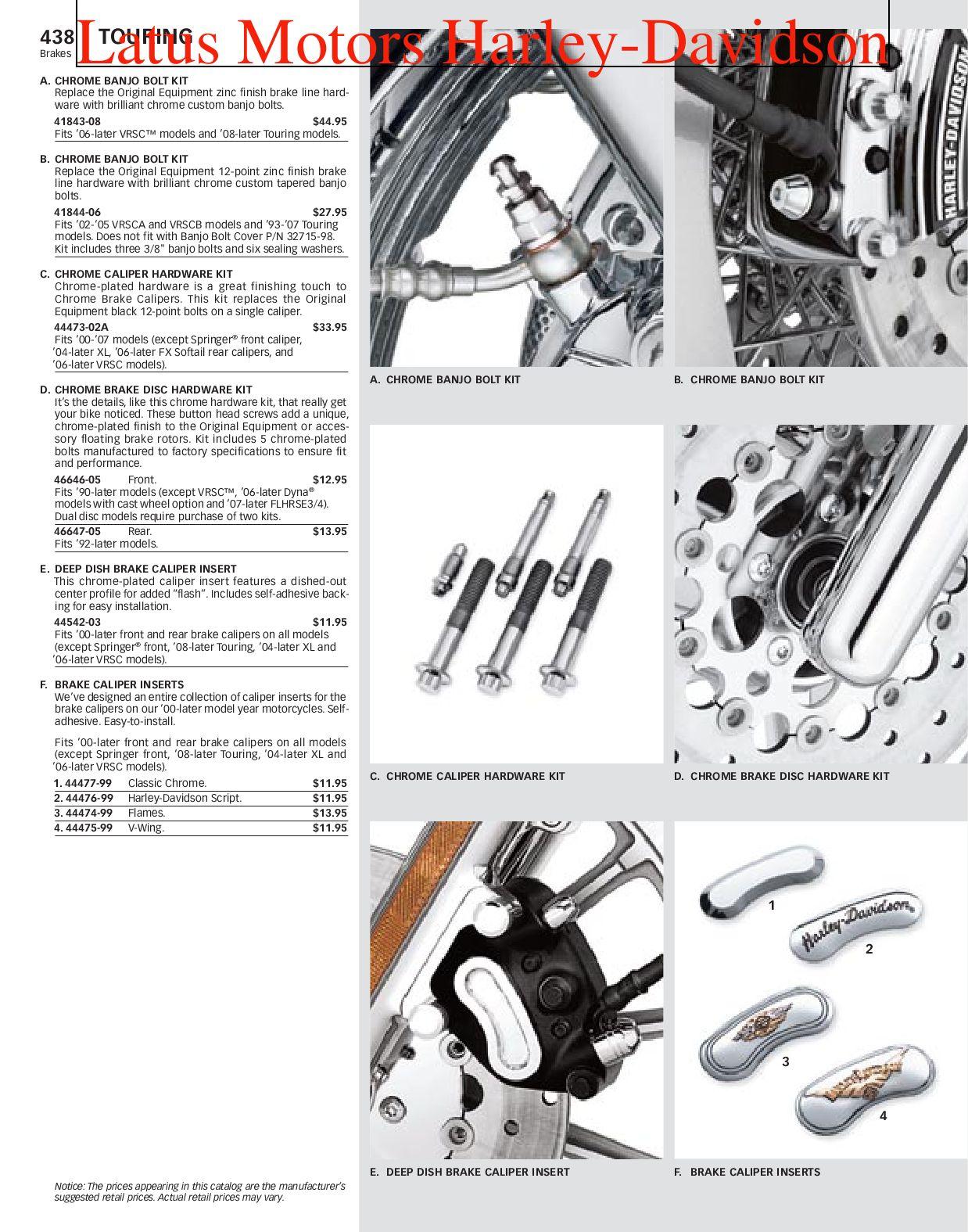 Harley Brake Line Banjo Bolt 3//8 x 24 Thread Allen Style Chrome Colony 2191-3