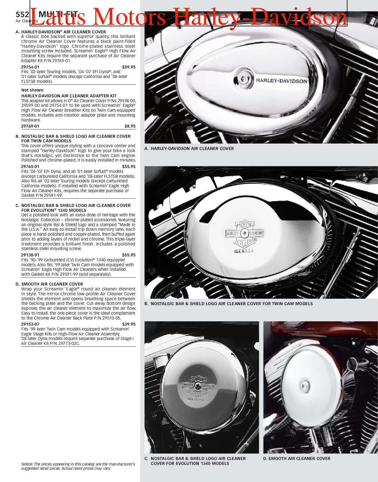 Harley Davidson Parts And Accessories Catalog Dyna Paint