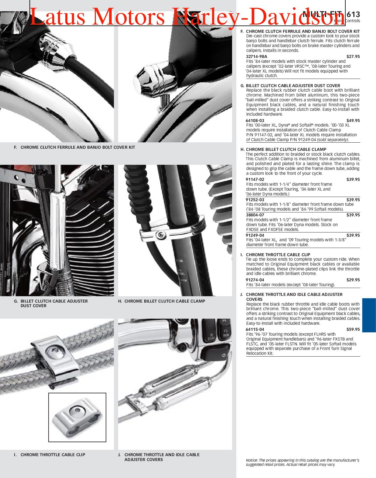 Part 2 Harley-Davidson Parts and Accessories Catalog by