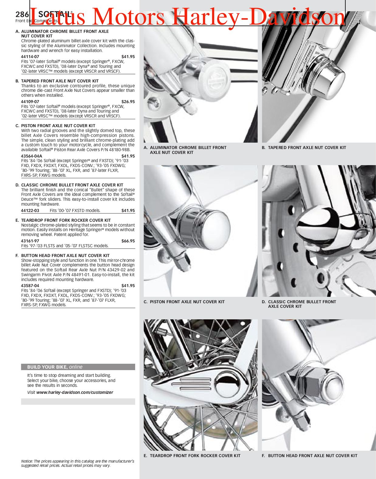 Harley-Davidson Softail® Parts and Accessories Catalog by