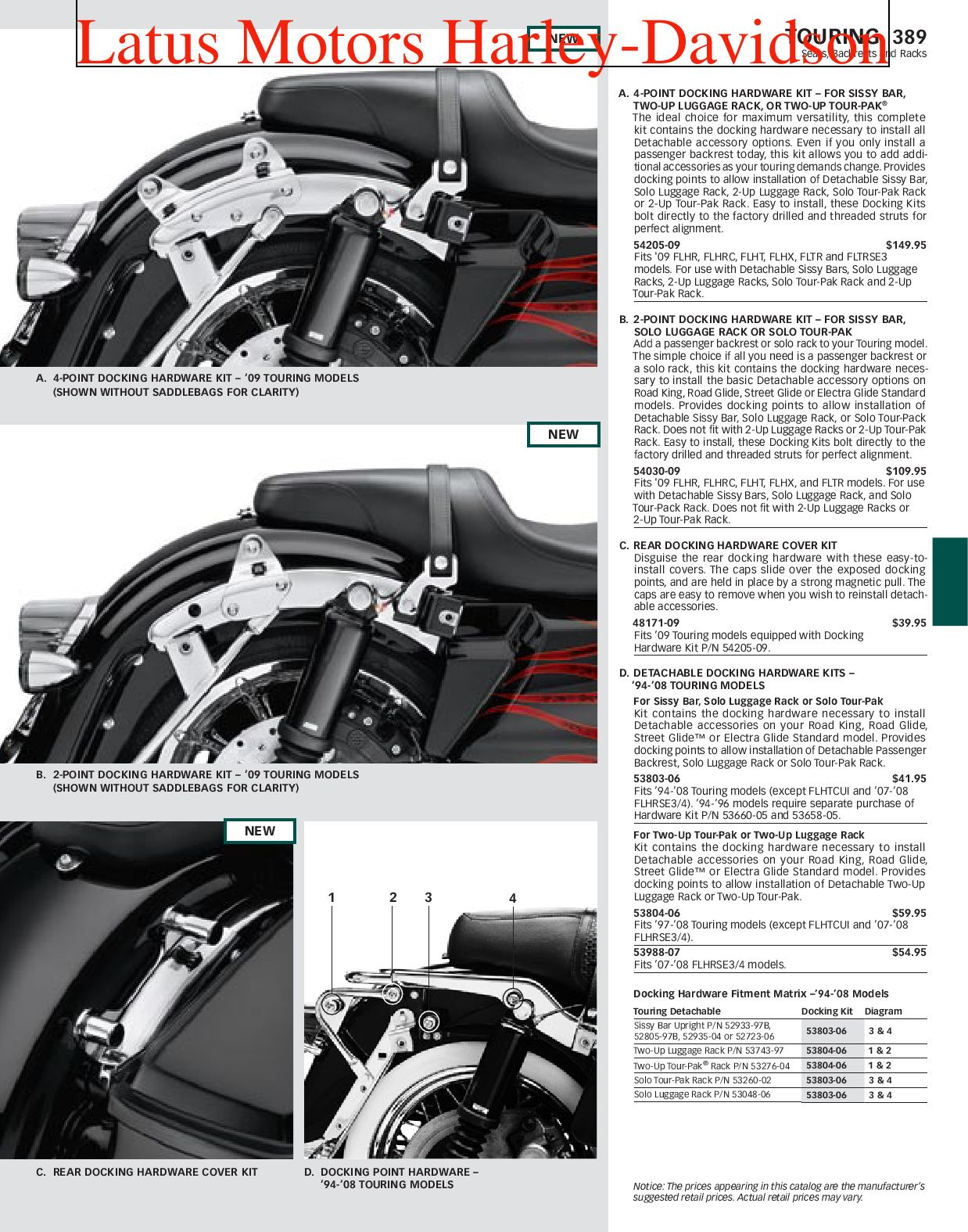Harley-Davidson Touring Parts and Accessories Catalog by ...