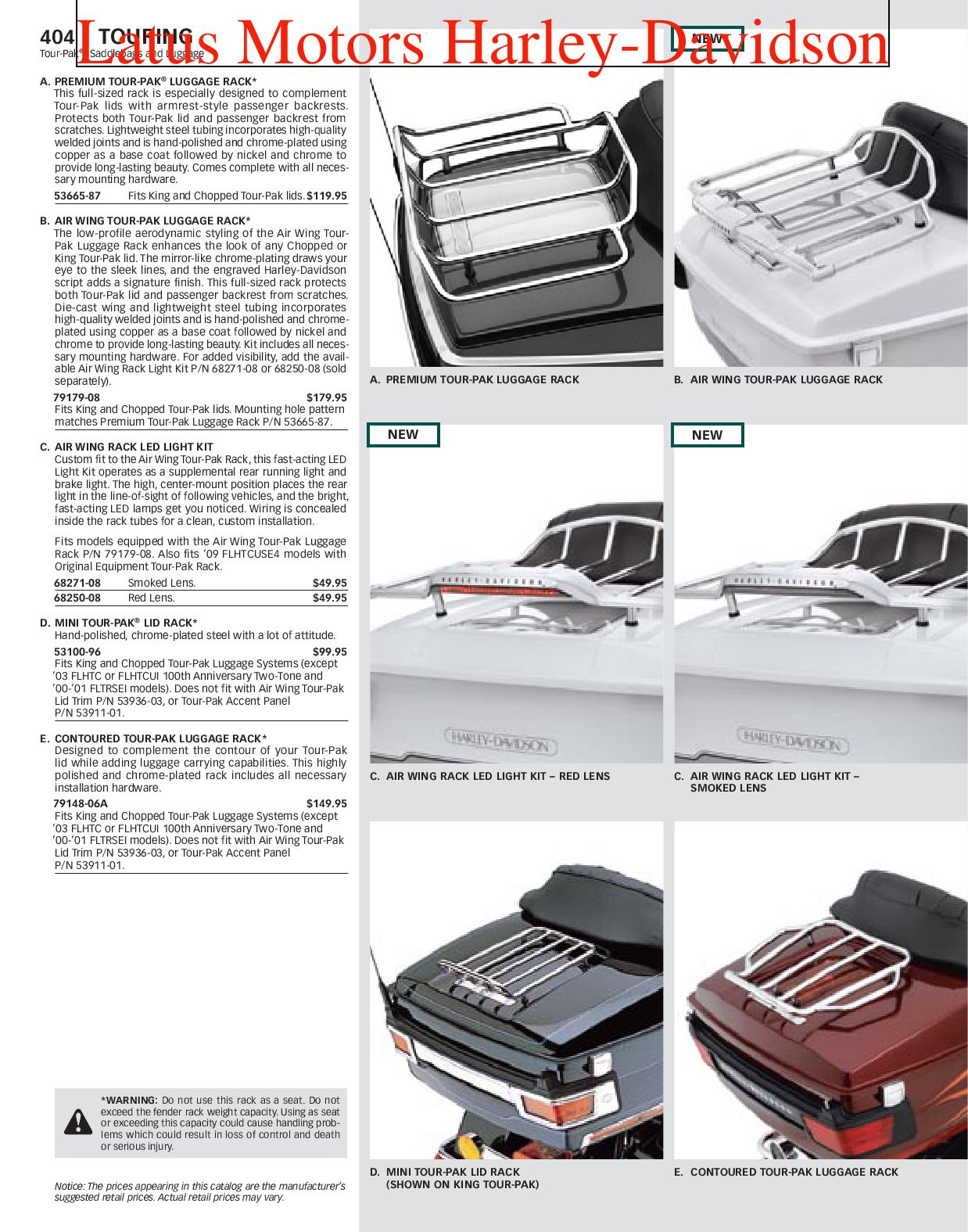 Harley Davidson Touring Parts And Accessories Catalog By