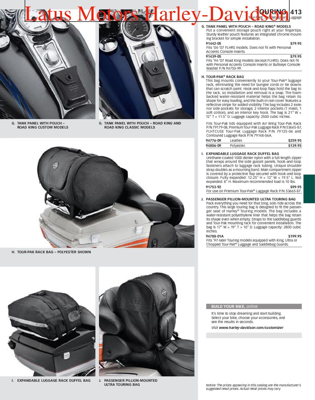 Innenverkleidung für Harley-Davidson Touring Topcase King Tour Pak 14-19