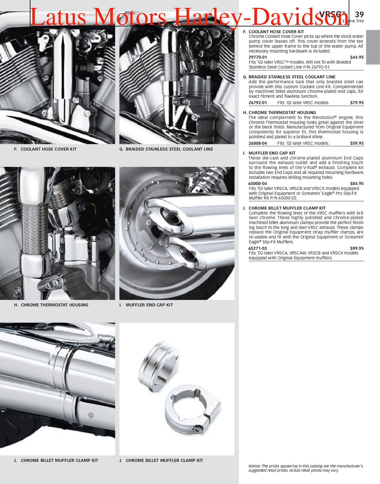 Harley-Davidson V-Rod® Parts and Accessories Catalog by ... on