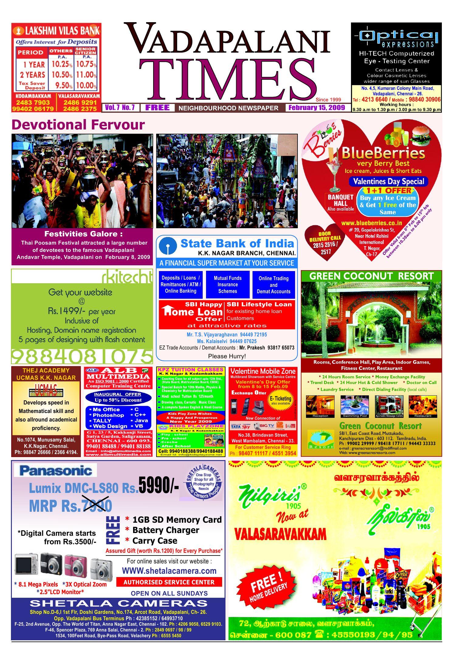 Vadapalani Times by Vadapalani Times - issuu