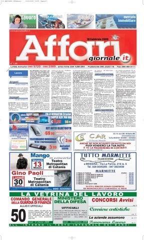 Giornale Affari Mercoledi 18 Febbraio 2009 by Editoriale Affari Srl ... 06176190c0e