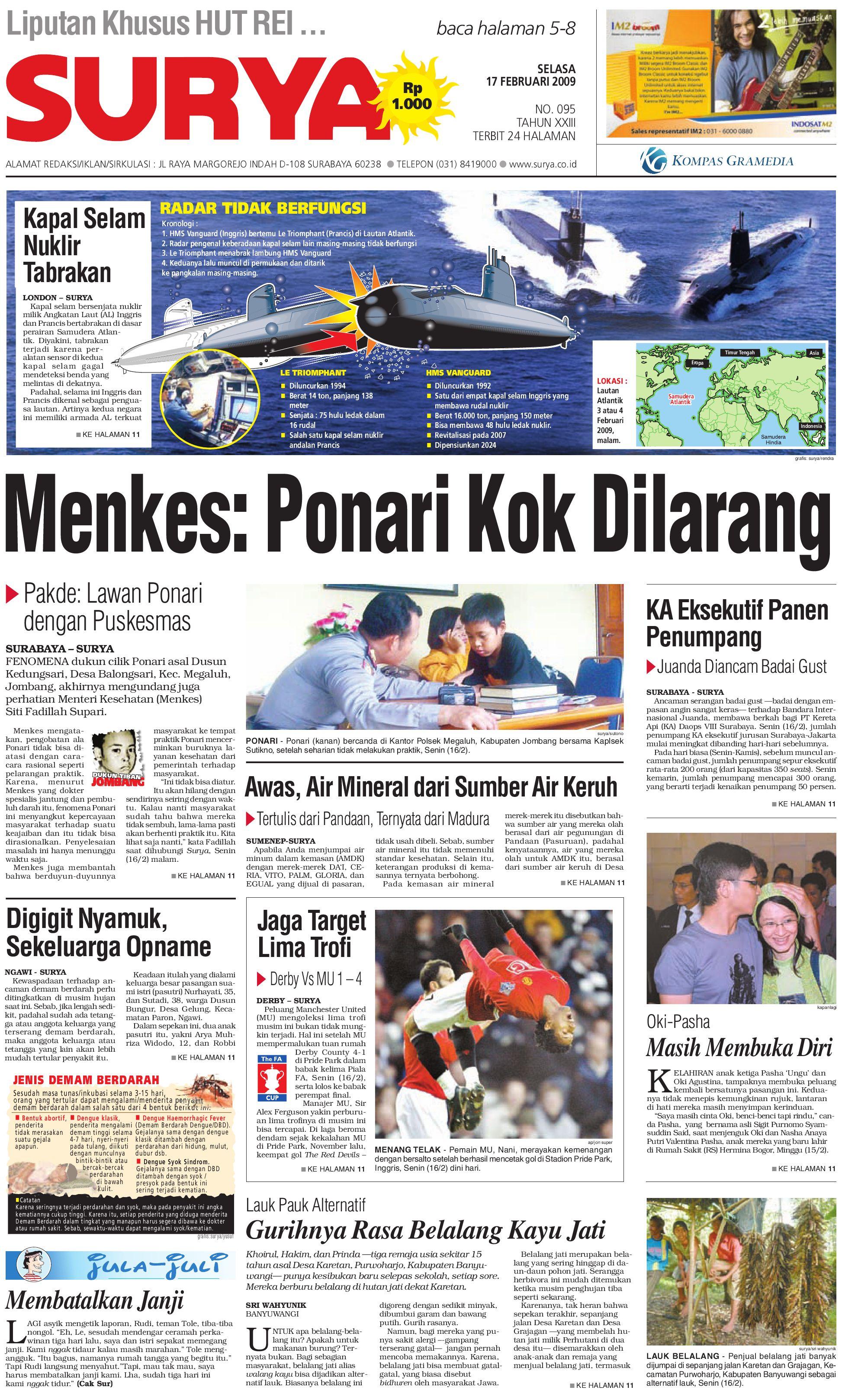 Edisi Cetak 17 Februari 2009 by Harian SURYA - issuu e87d36c2d3
