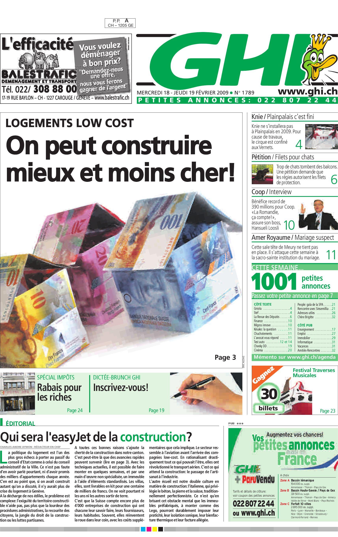 bd49a33f2f545a GHI 19.02.09 by GHI   Lausanne Cités - issuu