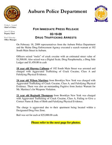 DRUG TRAFFICKING ARRESTS by Jason Moore - issuu