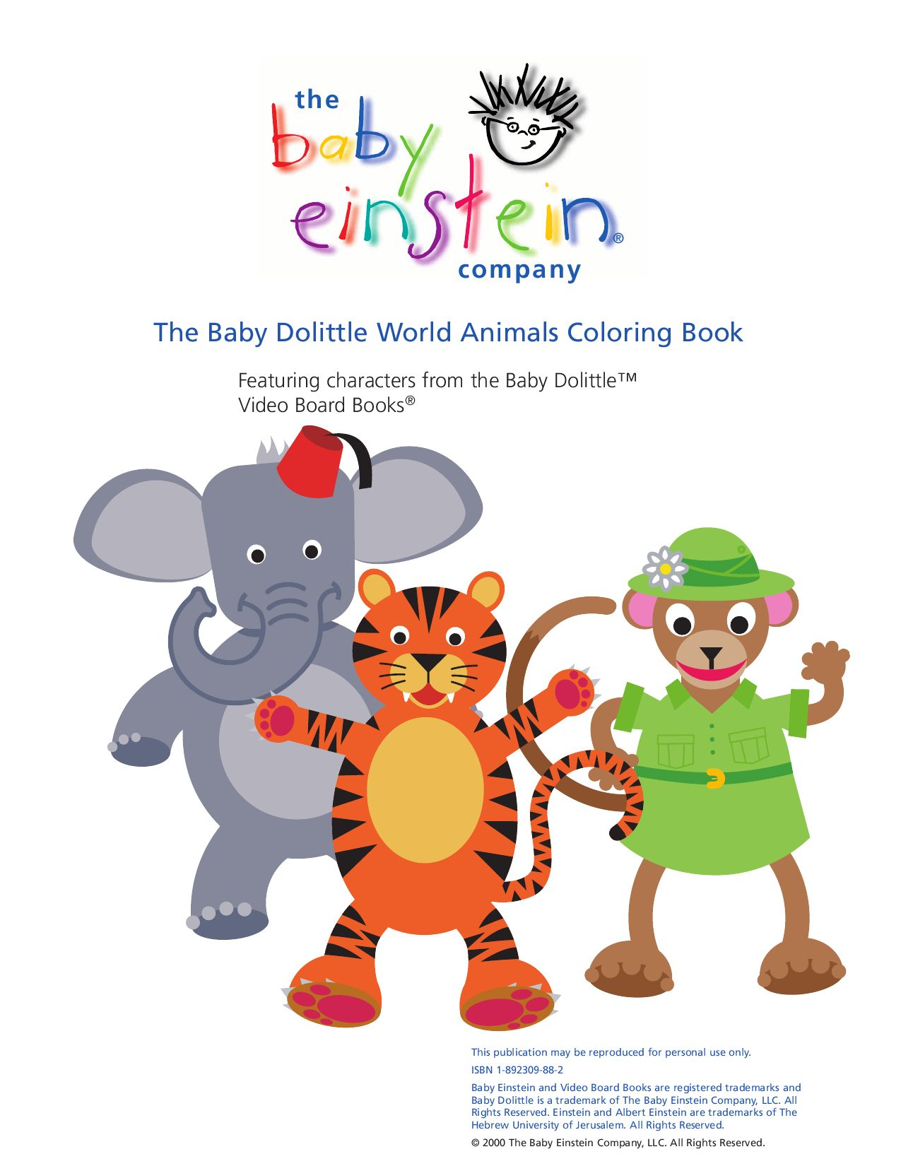 Baby Einstein Neighborhood Animals Coloring Book Coloring Pages