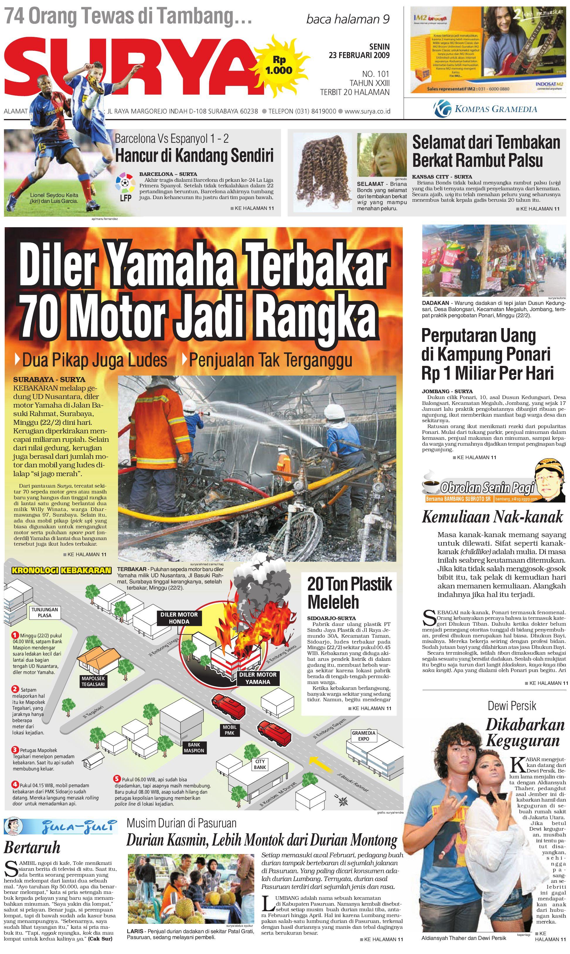 Surya Edisi Cetak 23 Februari 2009 by Harian SURYA - issuu 13fd3b2f15