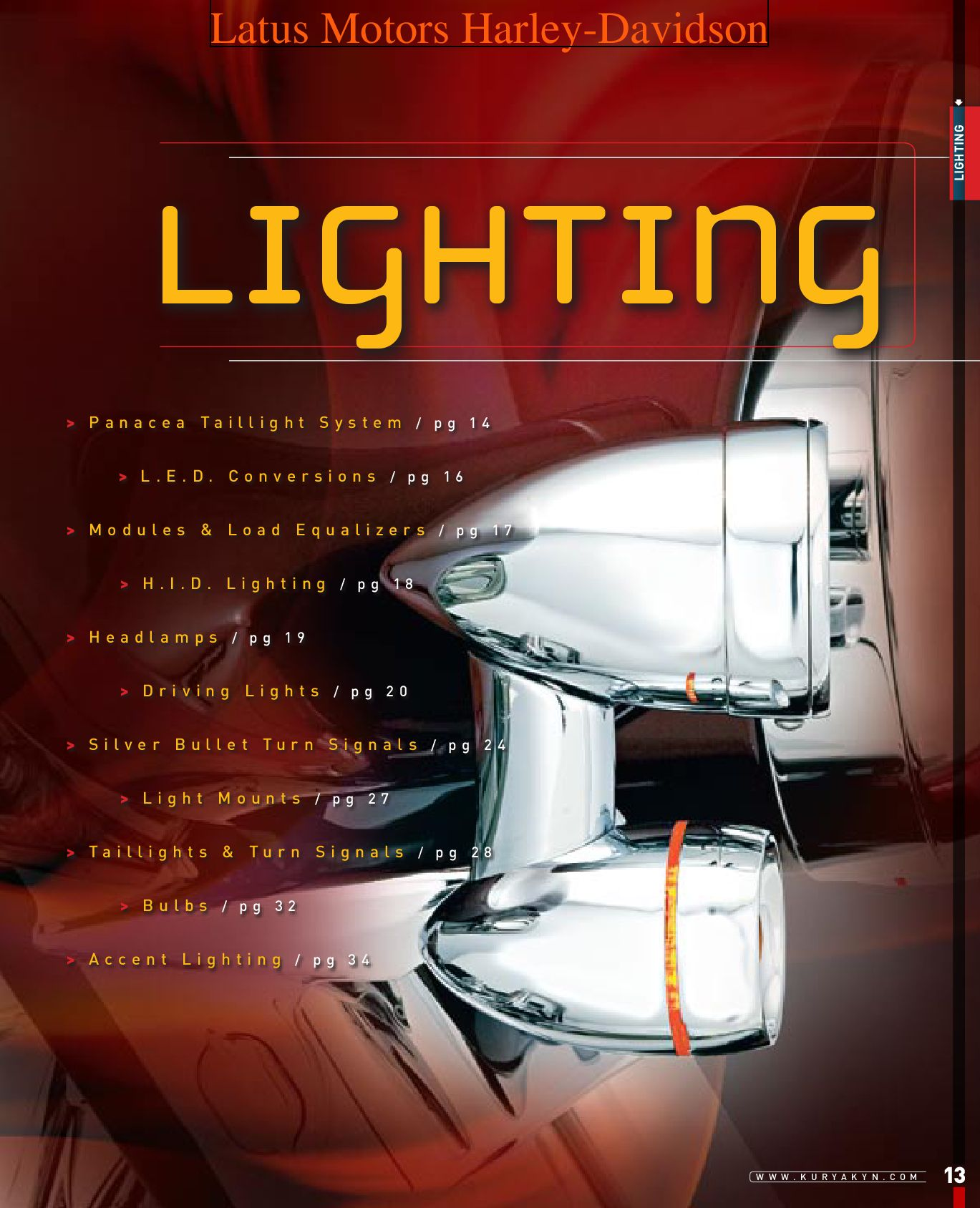 Kuryakin Lighting Catalog By Harley Davidson Of Portland