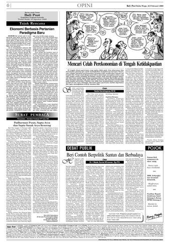 Bali Post Rabu 25 Februari 2009 By E Paper Kmb Issuu