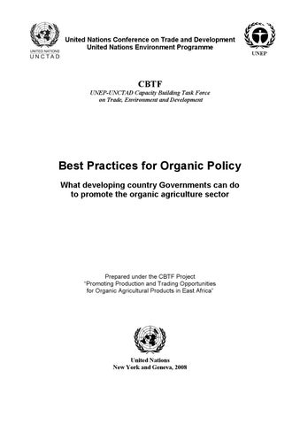 Best Practices for Organic Policy by IFOAM e V  - issuu
