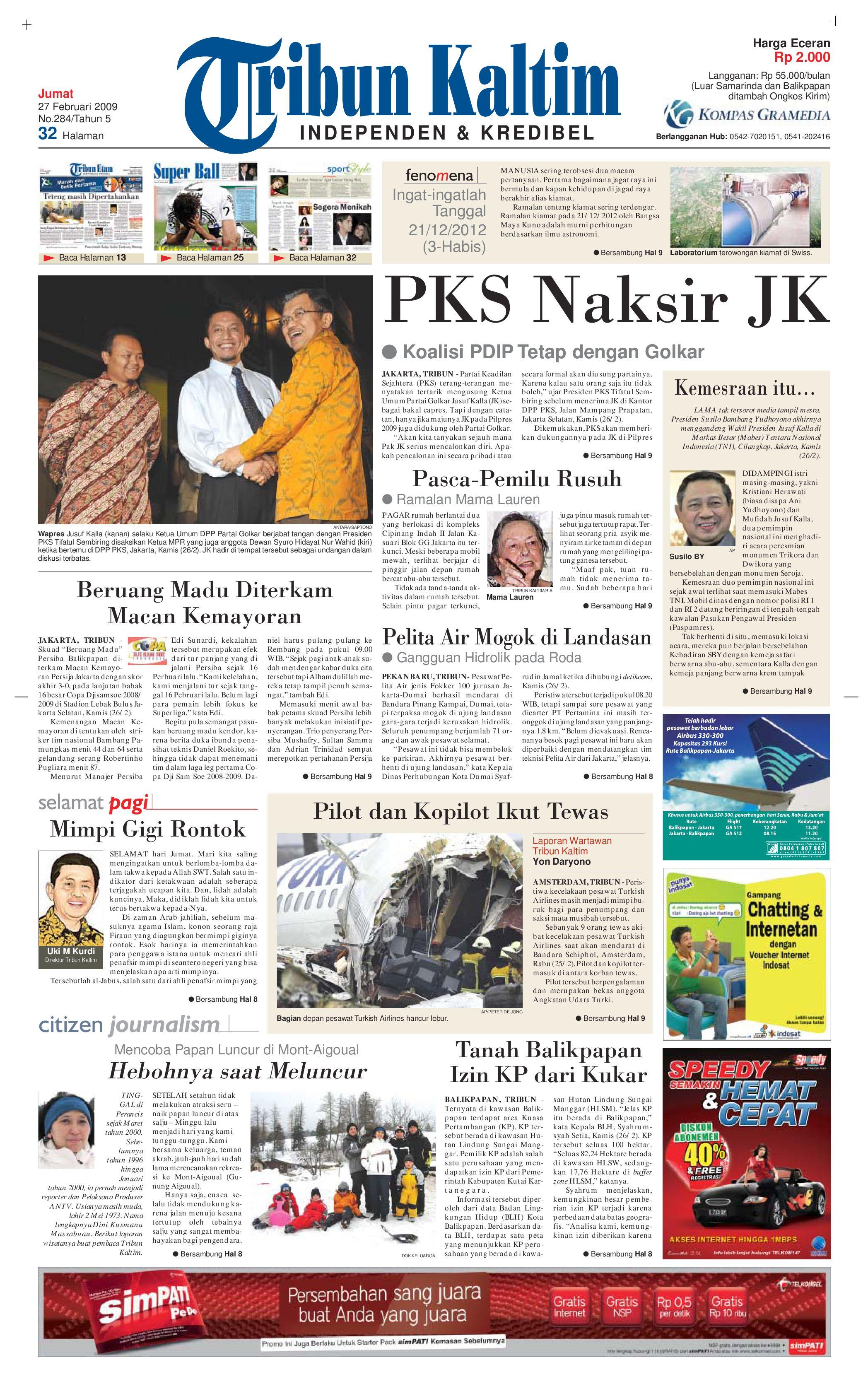 TRIBUN KALTIM 27 FEBRUARI 2009 by tohir tribun - issuu e1c4706d94