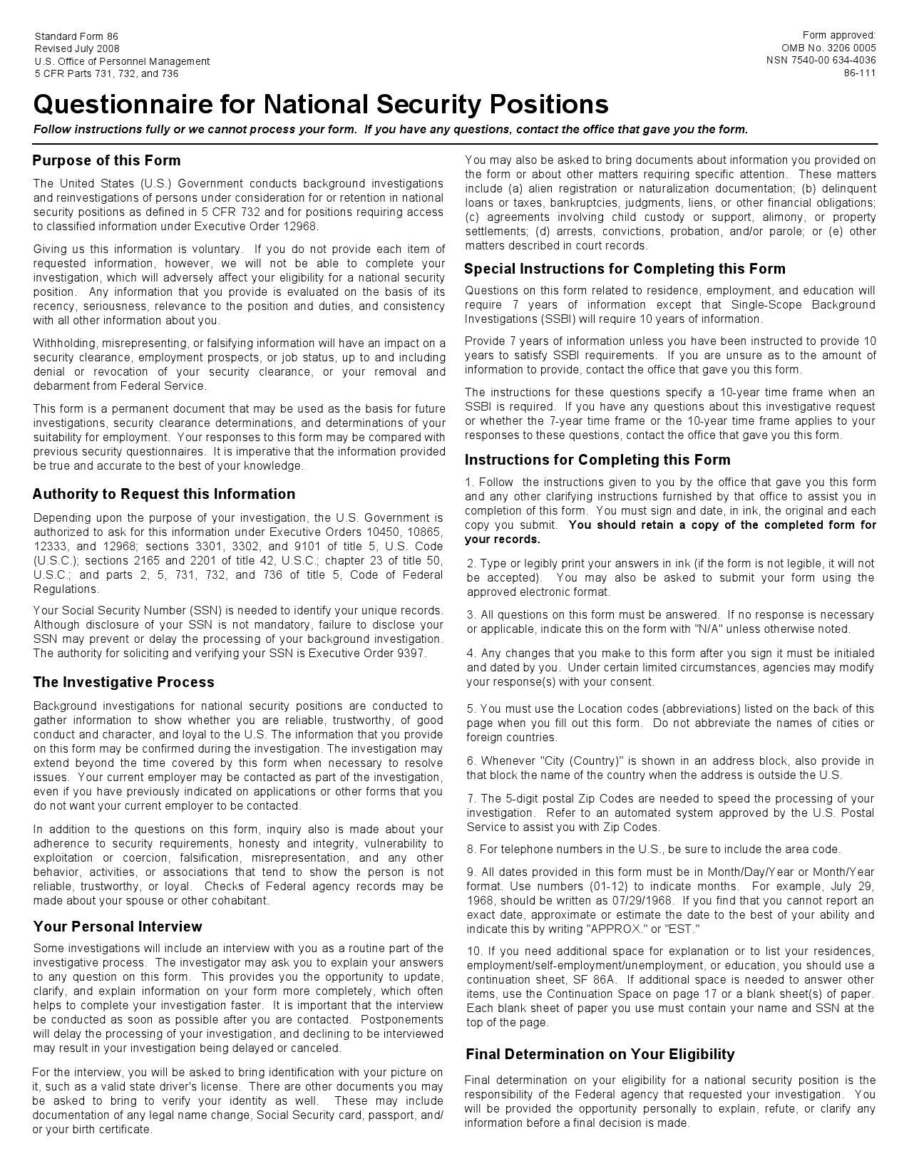SF 86 JULY 2008 EBOOK