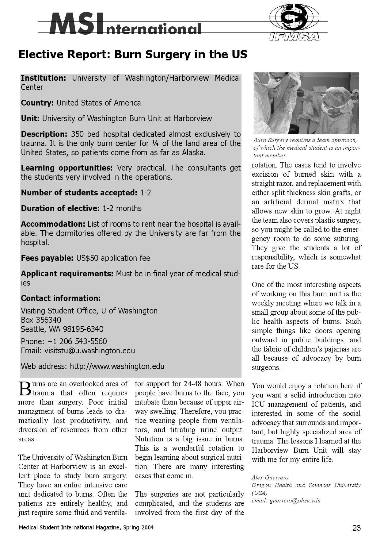 The Medical Student International 10