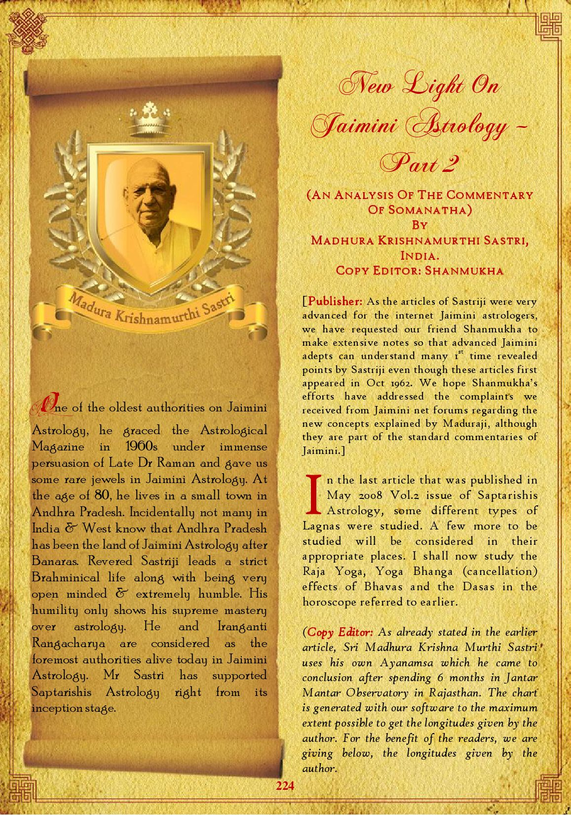 Horoscope male or female by saptarishis astrology issuu new light on jaimini astrology part 2 nvjuhfo Image collections