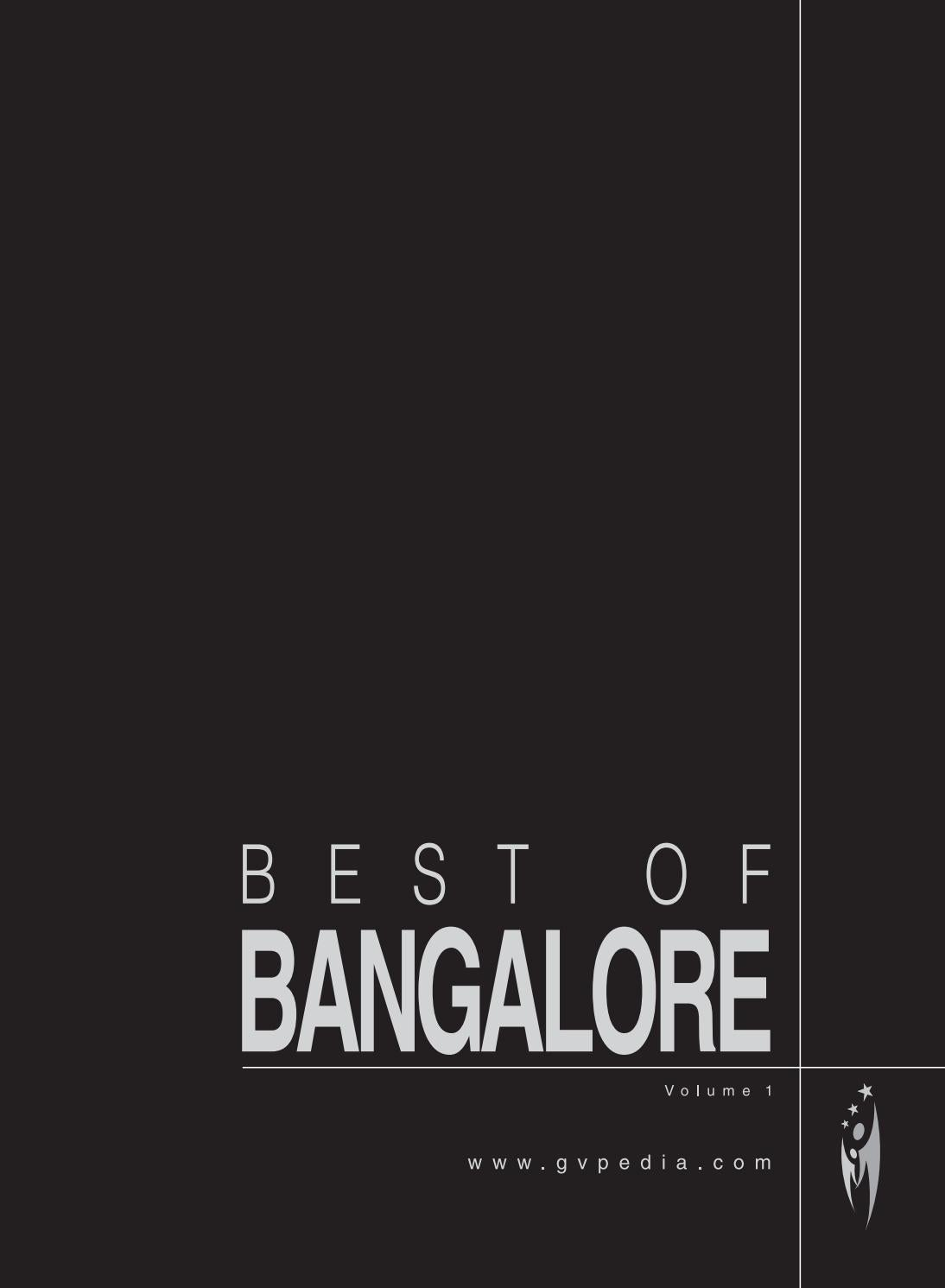 07dea7e551a7 BEST OF BANGALORE - Volume 1 by Sven Boermeester - issuu