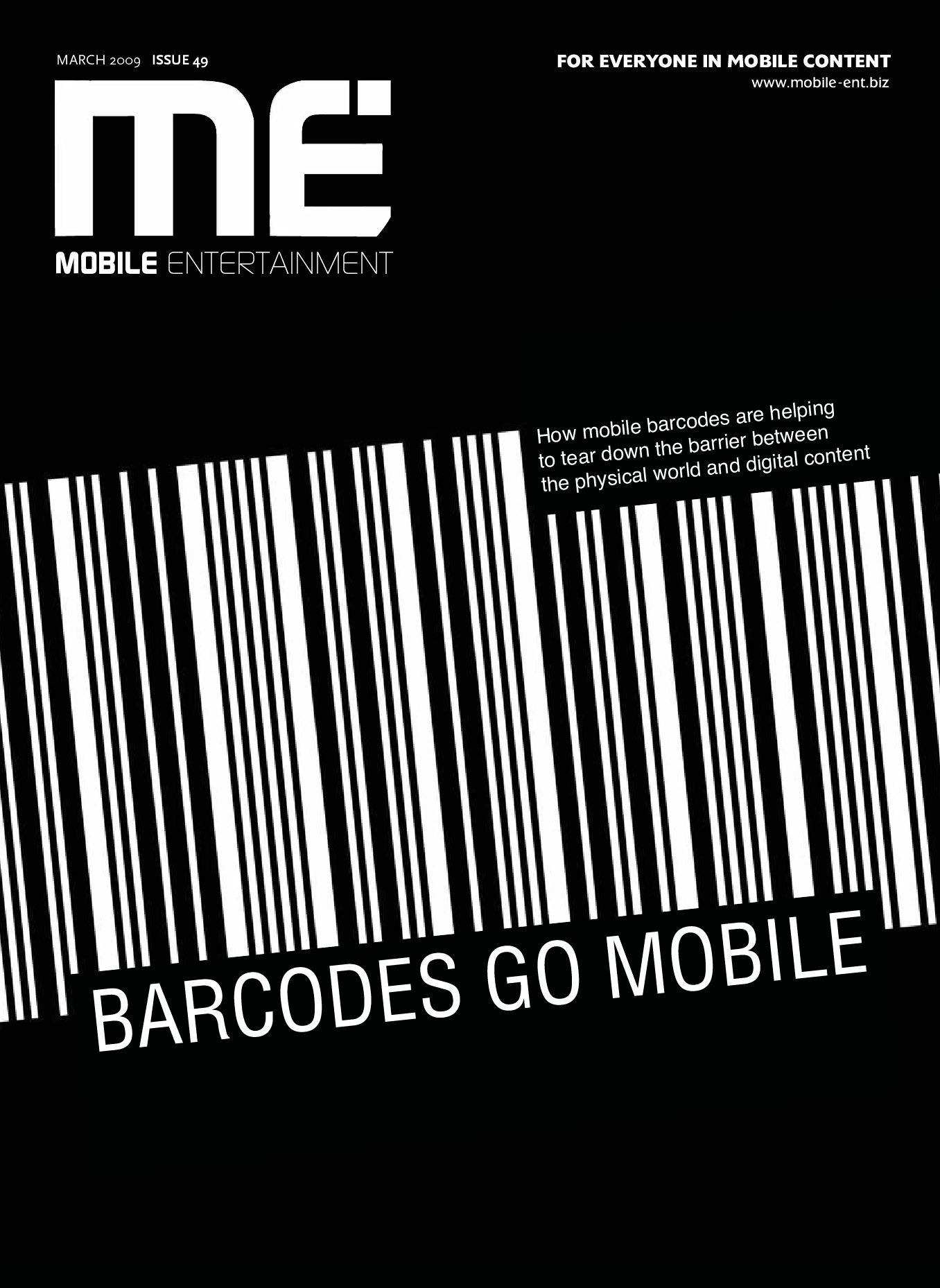 Mobile Entertainment issue49, March 2009 by Intent Media (now Newbay