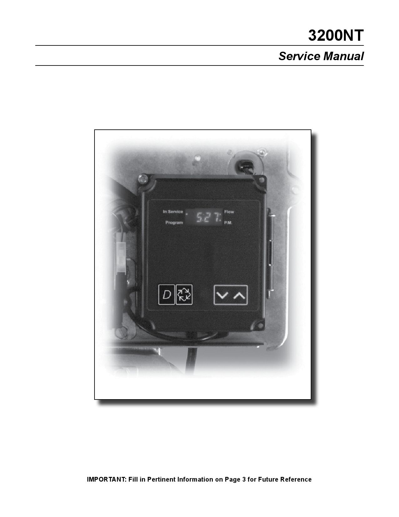 Fleck 3200nt Timer Manual De Servicio By Puradom Srl