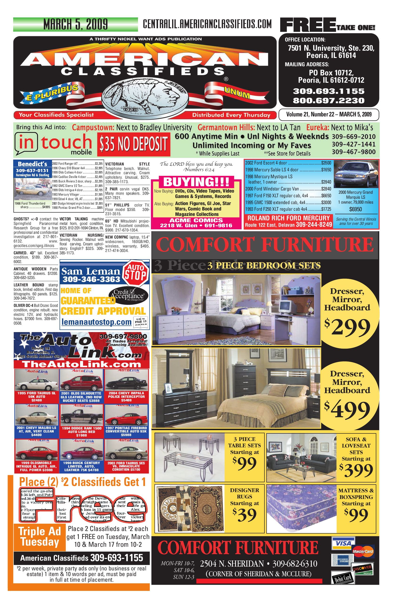 American Classifieds March 5, 2009 Peoria, IL by American Classifieds -  issuu