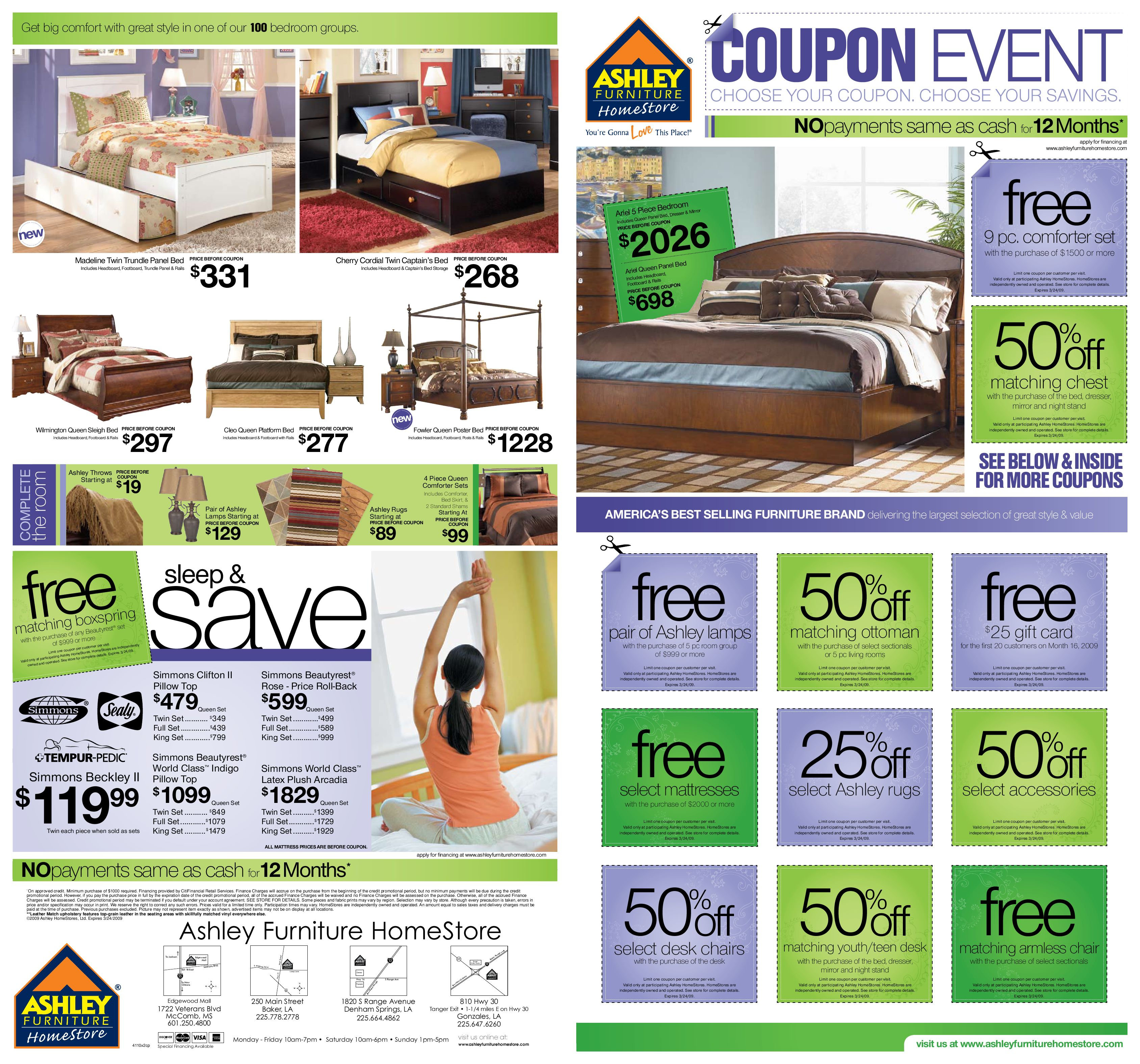 Coupon Event 2009 By Ashley Furniture