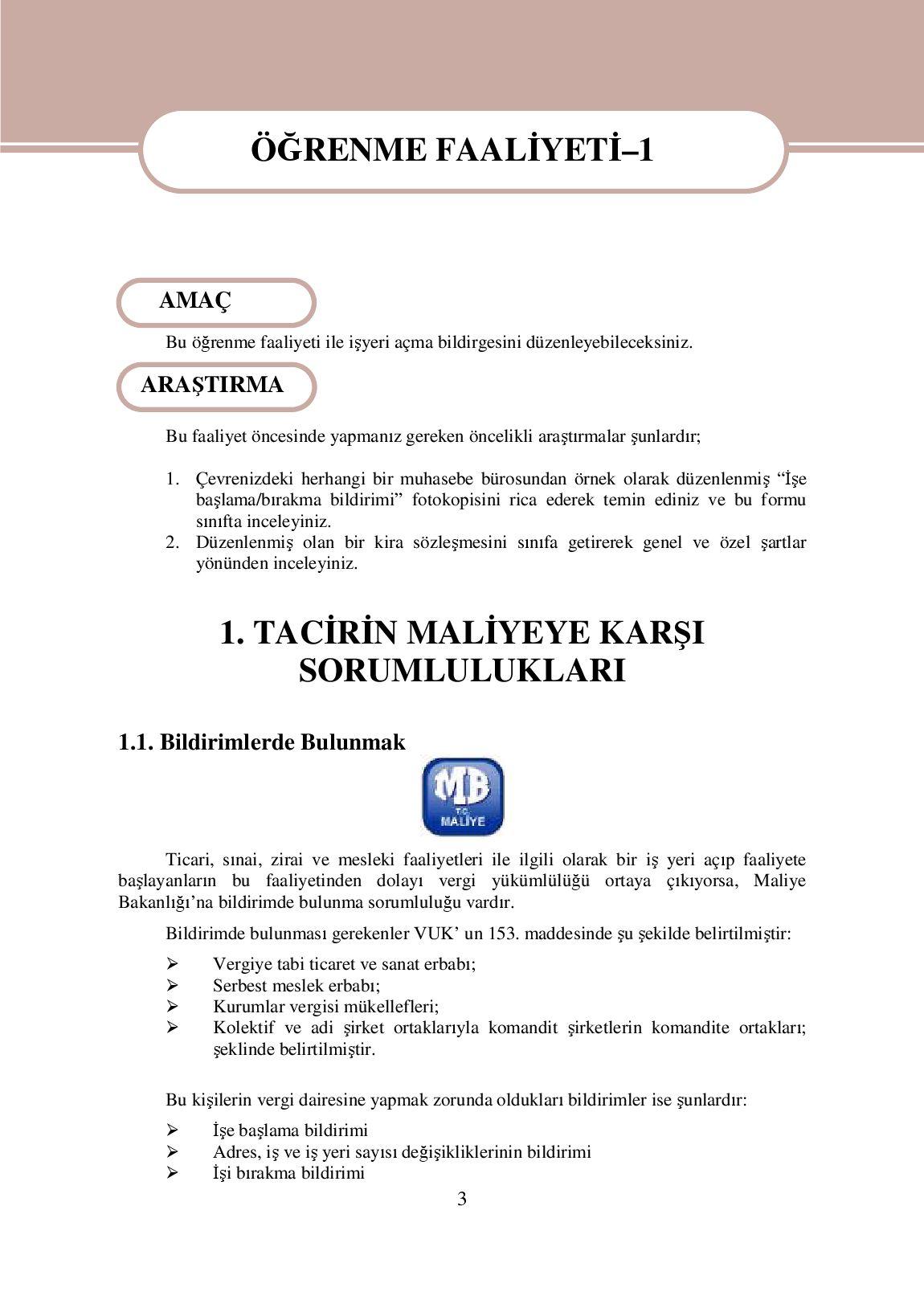 Vergi bildirimi (örnek)